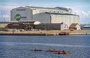 Refshaleøen, Copenhagen - B&W Hallerne, host venue of the Eurovision Song Contest 2014, located on Refshaleøen