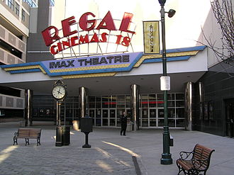 Regal Cinemas - A Regal Cinemas (with a built in IMAX theater) in New Rochelle, New York, a suburb of New York City