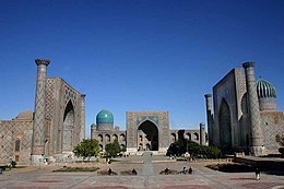 It plein Registan yn Samarkand