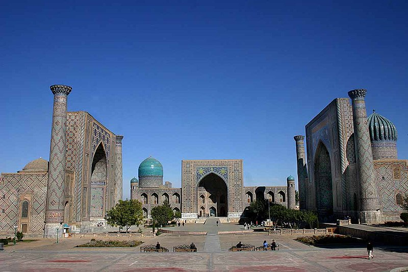 Soubor:Registan - Samarkand - 15-10-2005.jpg