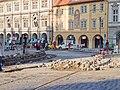 Reko TT Malostranské náměstí, Malostranské náměstí, detail prací.jpg