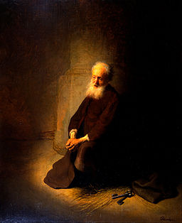 Rembrandt van Rijn - St. Peter in Prison (The Apostle Peter Kneeling) - Google Art Project