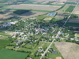 Republic, Ohio - Aerial view of Republic
