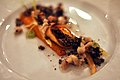 Restaurant Kokkeriet Råkost med røget ål, maltpulver og estragon (6150024781).jpg