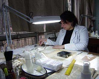 Georgian National Center of Manuscripts - Book restoration process at the National Centre of Manuscripts