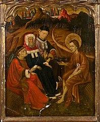 Saint John the Baptist preaching to the Levites table