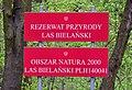 Rezerwat Las Bielański tablica informacyjna przy ul. Dewajtis 2017b.jpg