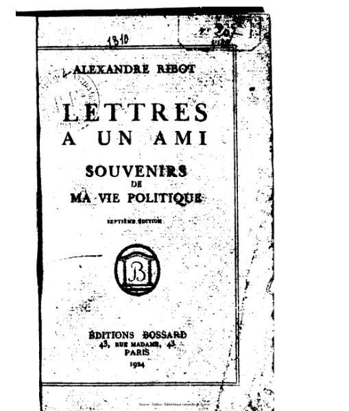 File:Ribot - Lettres à un ami. Souvenirs de ma vie politique.djvu