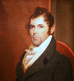 Richard Mentor Johnson - Portrait of Richard Mentor Johnson attributed to Matthew Harris Jouett, c. 1818