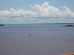Paraná River in Presidente Epitácio