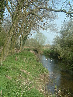 River Mease river in the East Midlands, United Kingdom