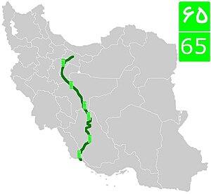 Road 65 (Iran) - Image: Road 65 (Iran)