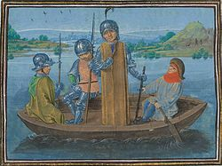 Robert de Vere fleeing Radcot Bridge.jpg