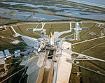 Rollout of STS-27 for support checkout (S86-38627).jpg
