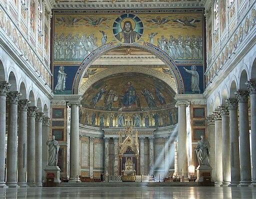 Rom, Sankt Paul vor den Mauern (San Paolo fuori le mura), Innenansicht 3