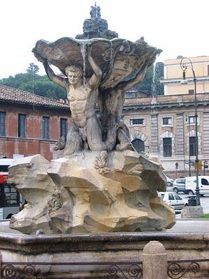 Roma - Piazza Bocca della verità-fontana