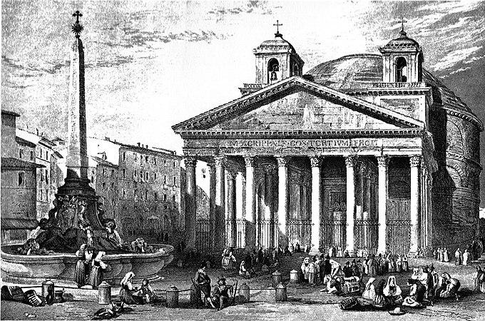 Roma Pantheon c1835