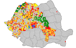 Romanian local elections, 2008 - Image: Romania local election 2008 administrive units