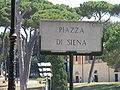 Rome - Piazza di Siena (sign).jpg