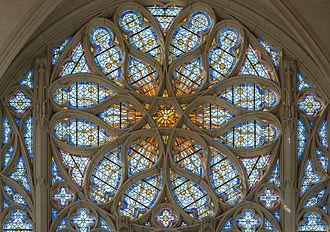 Sainte-Chapelle de Vincennes - Image: Rose Window of Sainte Chapelle de Vincennes, Interior View 140308 1
