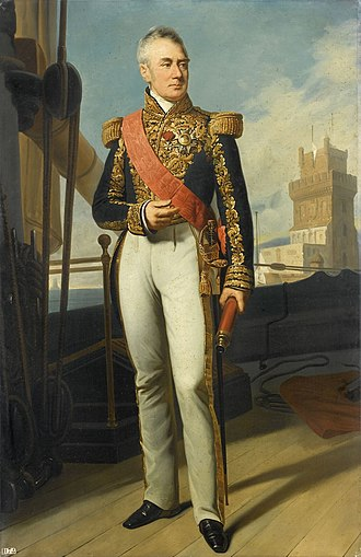 Albin Roussin - Admiral Roussin commanding the expedition to Lisbon in 1831, painted by Charles Philippe Larivière.