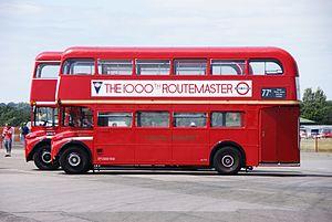 Routemasters RMA9 & RM1000, 2010 North Weald bus rally.jpg
