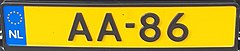 Royal Dutch License plate AA-86.jpg