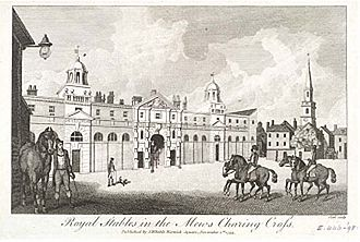 Royal Mews - The Mews at Charing Cross in 1793.