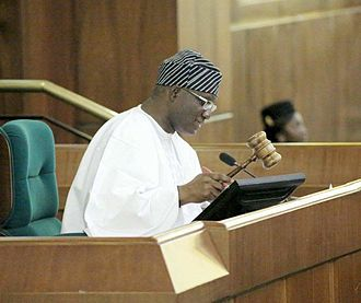 Yusuf Sulaimon Lasun - Lasun presiding over the House