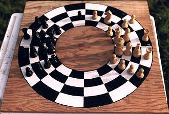 Circular chess - Image: Rundskak foto