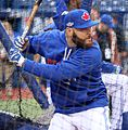 Russell Martin takes batting practice before the AL Wild Card Game. (30156060385).jpg