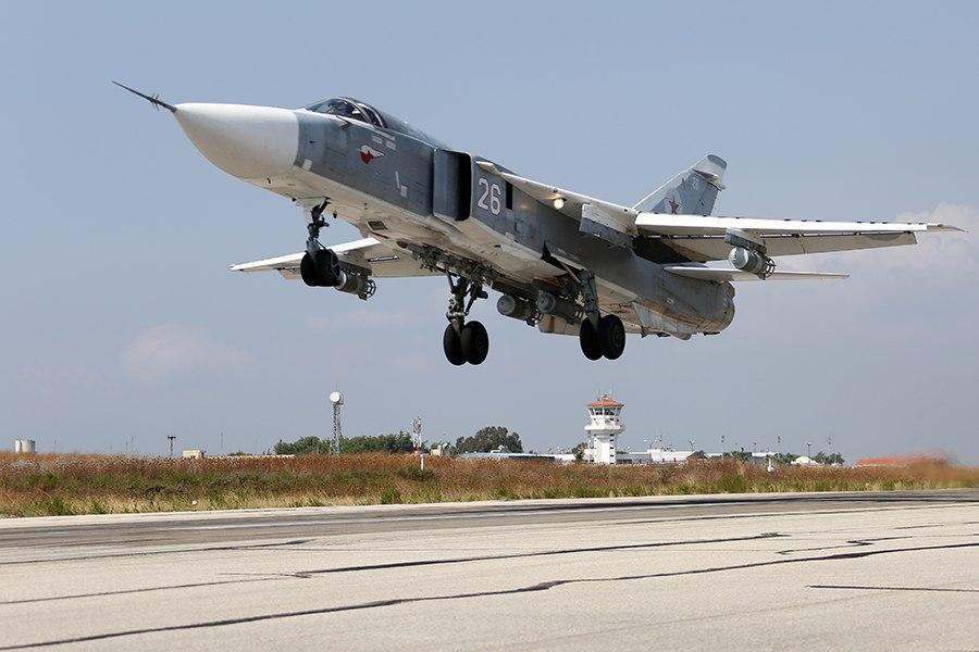 Russian Air Force Sukhoi Su-24 at Latakia Air Base