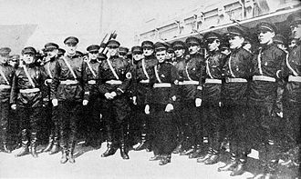 Harbin Russians - Anti-Soviet Russian Fascists, inspired by Italian fascism, in Harbin, 1934.