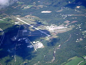 Rutland–Southern Vermont Regional Airport - Aerial photo, September 2007