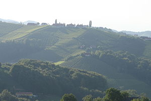 Styria - View over the vineyards of South-Styria