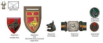 12 South African Infantry Battalion - SADF era Dog Centre insignia
