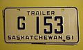 SASKATCHEWAN, GOV'T TRAILER PLATE 1961 ^G153 - Flickr - woody1778a.jpg