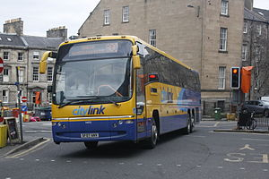 Scottish Citylink - Plaxton Panther bodied Volvo B12BT in Edinburgh in April 2013
