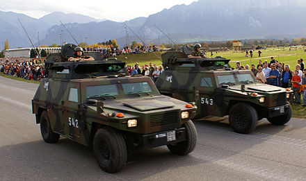 Swiss-built Mowag Eagles of the Land Forces SKdt-Fahrzeug - Schweizer Armee - Steel Parade 2006.jpg