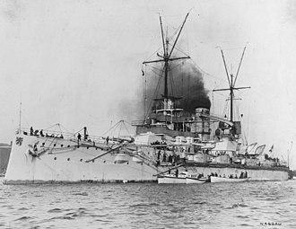SMS Nassau - Nassau early in her career, c. 1909–1910