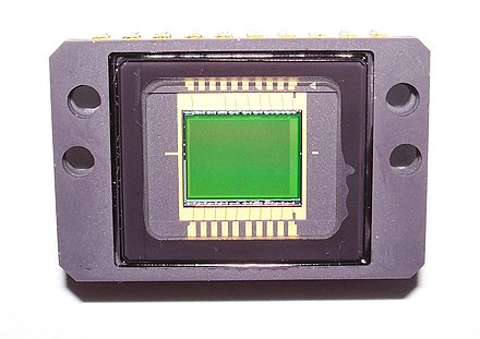 "Sony 2/3"" CCD ICX024AK 10A 494496 (816*606) pixels CCD removed from Sony CCD-V88E video camera from 1988, with Yellow, Green and Cyan vertical stripe filter SONY ICX024AK 10A 1988 494kpix CCD.jpg"