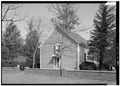 SOUTH FRONT FROM SOUTHEAST, CLOSER - Blackwater Presbyterian Church, State Road 54, Clarksville, Sussex County, DE HABS DEL,3-CLAVI.V,1-4.tif
