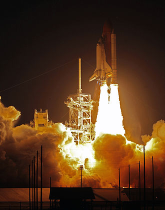 STS-119 - Space Shuttle ''Discovery'' lifts off from Kennedy Space Center.