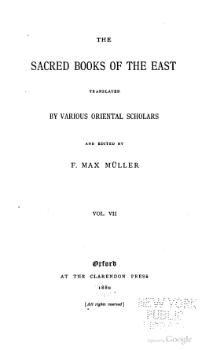 Sacred Books of the East - Volume 7.djvu