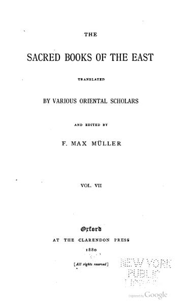File:Sacred Books of the East - Volume 7.djvu