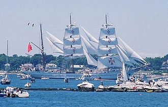 Gorch Fock (1933) - Sagres at OpSail 2000 in New London, Connecticut where her sister ship Eagle is home-ported.