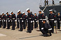 Sailors of JMSDF line up in formation at Sasebo, -16 Mar. 2002 c.jpg