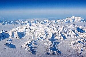 Alaska-St. Elias Range tundra - The Saint Elias Mountains - Mt Logan with Mount Saint Elias in the background