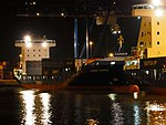 Samskip Courier by night in Rotterdam.JPG