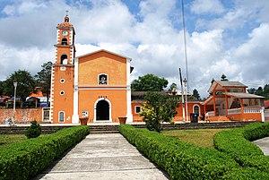 Tenango embroidery - Parish church of Tenango de Doria